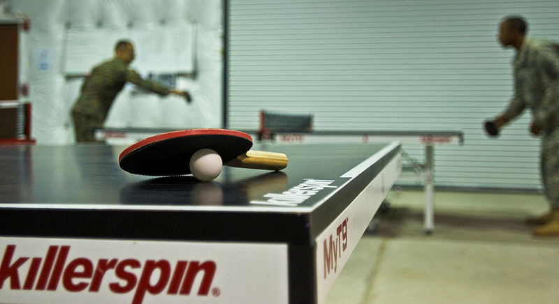File:JFC-UA service members compete in a ping pong tournament 151215