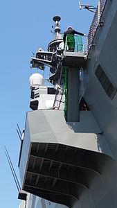 JS Hyūga, starboard sponson 01.jpg