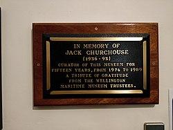 Photo of Jack Churchouse black plaque
