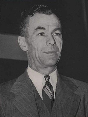 """Jack Friel - Friel in the 1950 """"Chinook"""""""