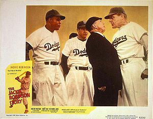 Lobby card for The Jackie Robinson Story