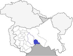 Location of Paddar Sub-District, J&K, India