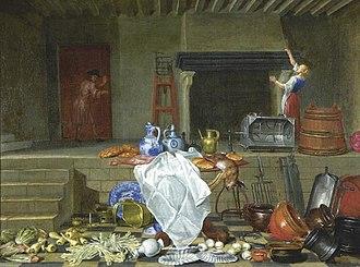Jan van Buken - Kitchen still life