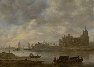 View of Duurstede Castle at Wijk bij Duurstede