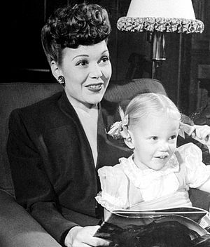 Maureen Reagan - Maureen Reagan with her mother, Jane Wyman (1944)