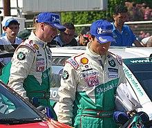 En rallyforare i pole position