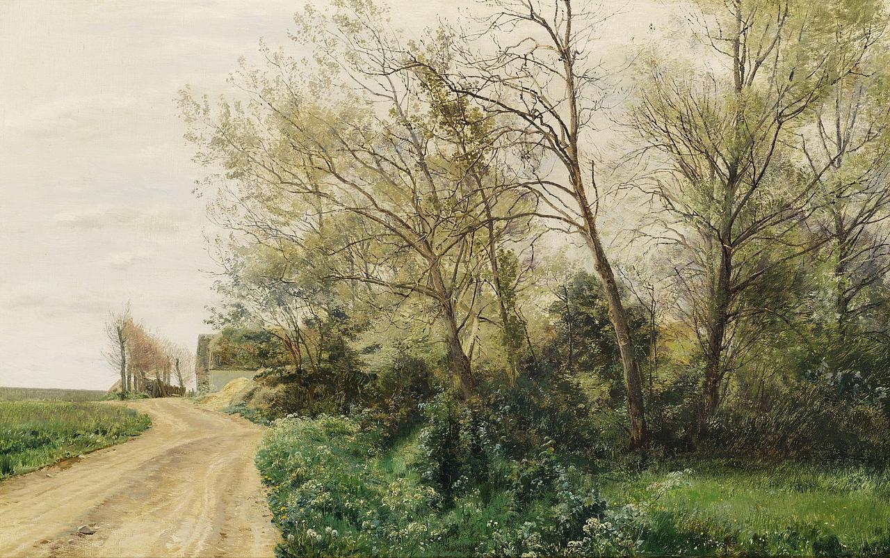Janus la Cour - Landskab med bondegård - 1883.png