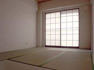 <i>Washitsu</i> Japanese room with tatami flooring