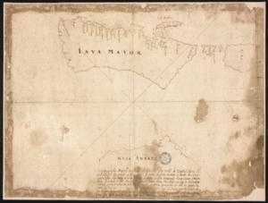 Manuel Godinho de Erédia - Map by Godinho de Erédia showing Java and possibly Australia (marked as Nuca Antara)