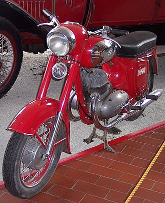 Jawa 350 - Jawa 350/354 from 1954, exhibited at the museum in Bad Oeynhausen, Germany