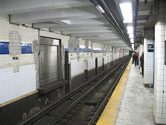 Jay Street–MetroTech (New York City Subway) - Money train door on southbound track of the IND platform