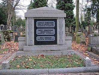 Old Jewish Cemetery, Frankfurt - Grave of the publisher Leopold Sonnemann