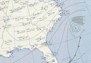 1951 Atlantic hurricane season - Image: Jig 1951 10 16 weather map