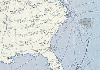 1951 Atlantic hurricane season - Image: Jig 1951 10 16 weather map