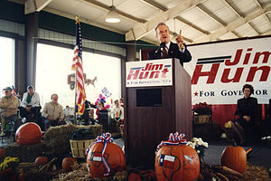 Jim Hunt - Jim Hunt on the campaign trail 1992