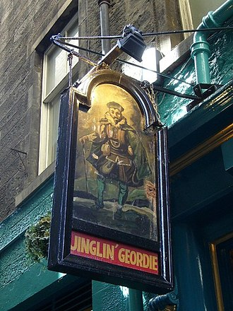 """George Heriot - A pub in Edinburgh's Old Town preserves Heriot's nickname """"Jinglin' Geordie"""" (from the sound of coins clinking in his purse)."""