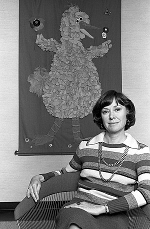 Joan Ganz Cooney - Joan Ganz Cooney, in her apartment, portrait by Lynn Gilbert, 1977, New York.