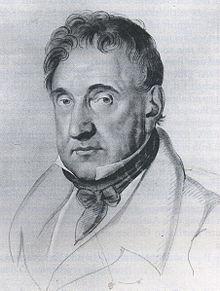 Johann Andreas Stumpff, Kreidezeichnung von Johann Joseph Schmeller, 1829 (Weimar, Goethe-Nationalmuseum) (Quelle: Wikimedia)