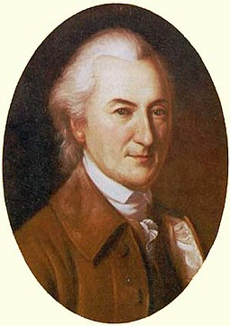 John Dickinson authored the first draft of the Articles of Confederation in 1776 while serving in the Continental Congress as a delegate from Pennsylvania, and signed them late the following year, after being elected to Congress as a delegate from Delaware. John Dickinson portrait.jpg