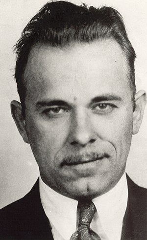 Herman Lamm - John Dillinger (pictured) studied and used the bank robbery techniques developed by Lamm.