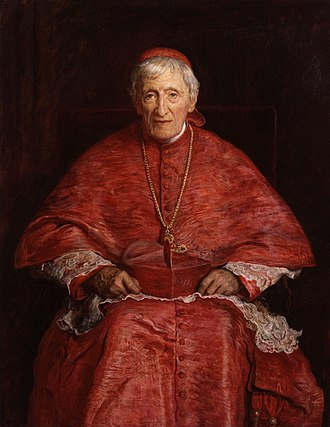 John Henry Newman - Portrait of Newman by  John Everett Millais, 1881.
