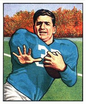 John Panelli - Panelli on a 1950 Bowman football card