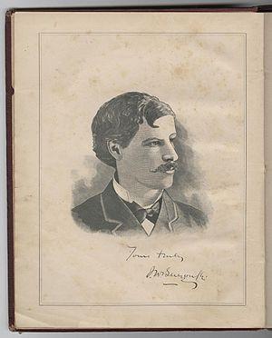 John Wilson Bengough - Portrait of Bengough from A Caricature History of Canadian Politics (1886)