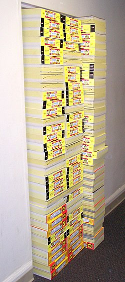 Berkas:Joke - phone books in doorway.jpg