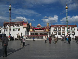 Jokhang - The Jokhang, with Barkhor Square in front