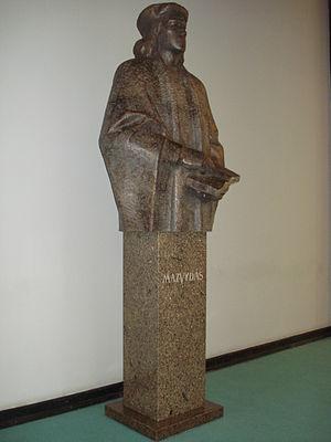 Martynas Mažvydas - Statue of Martynas Mažvydas.