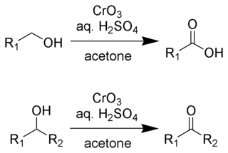 Reaction scheme of the Jones oxidation