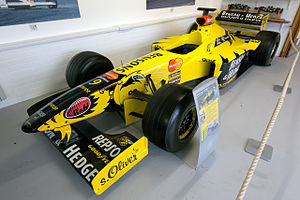 Jordan 198 front-left Donington Grand Prix Collection.jpg