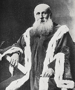 Joseph Braithwaite (mayor) - Braithwaite in mayoral robes (20 July 1905)