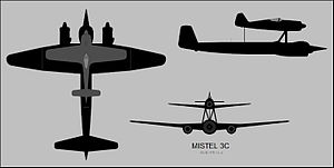 Mistel - Ju 88H and Fw 190 combined to form a model 3B Mistel.