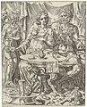 Judit en Holofernes genieten van een feestmaal Judit en Holofernes (serietitel), RP-P-OB-7312.jpg
