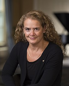 Julie Payette in Ottawa in 2017