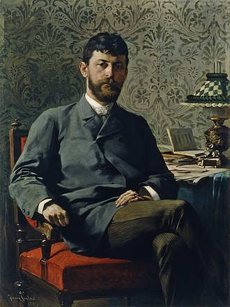 Ivan Tavčar - Portrait of Ivan Tavčar by Jurij Šubic