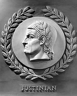 Justinian I bas-relief in the U.S. House of Representatives chamber.jpg