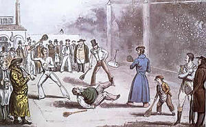 Rackets (sport) - Rackets being played at a prison—where the game developed