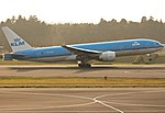 KLM Boeing 777-200ER PH-BQA departing Narita (14369820600).jpg
