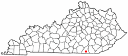 Location of Pine Knot, Kentucky