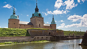 Abraham Brodersson - Front view of the Kalmar Castle, where Abraham Brodersson lived and of which he was the castellan