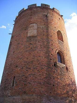 Tower of Kamyenyets - A closeup of the brickwork.
