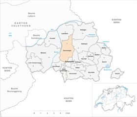 Map of Derendingen
