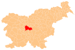 Location of the Municipality of Ljubljana in Slovenia