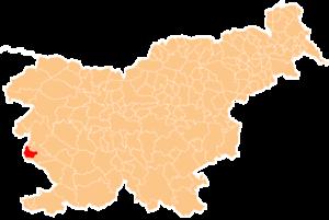 Umestitev občine Miren-Kostanjevica v Sloveniji