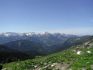 Karwendel - View of the northeastern part of the Karwendel (Location: Blue Mountains)