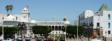 Kasbah Square comprising the finance ministry and the prime ministry of Tunisia Kasbah-Kassus.jpg