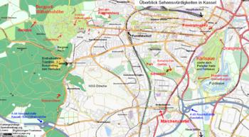 Karte Kassel Und Umgebung.Kassel Reiseführer Auf Wikivoyage