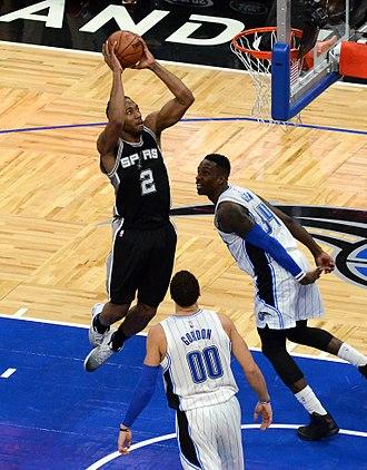 Kawhi Leonard - Leonard with the Spurs in 2017